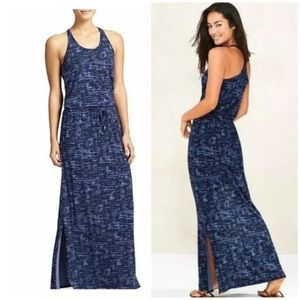 Athleta maxi dress with built in bra size xl